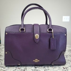 Coach Purple Mercer 30 Satchel, BNWT!